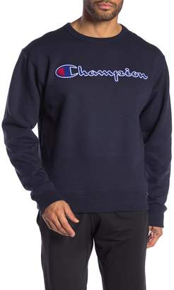 Champion Logo Patch Crew Neck Pullover