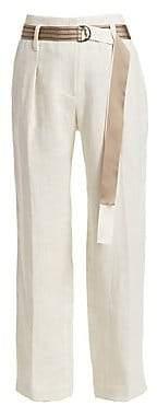 Brunello Cucinelli Women's Linen Twill Pants