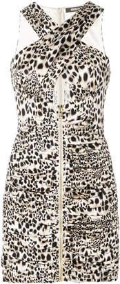 Roberto Cavalli chukar print zipped dress