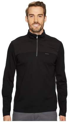Calvin Klein Mixed Media 1/4 Zip Pullover Men's Clothing