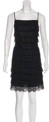 Diane von Furstenberg Lace Sleeveless Knee-Length Dress