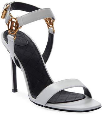 Balmain Pernille Medallion Leather Sandals