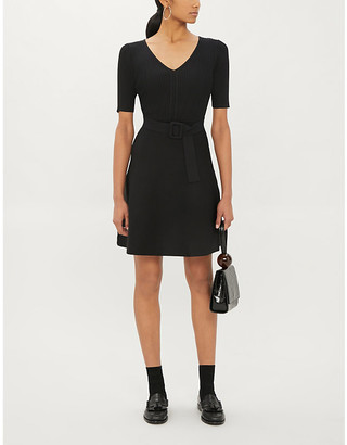 Claudie Pierlot Mangalah19 belted knitted mini dress