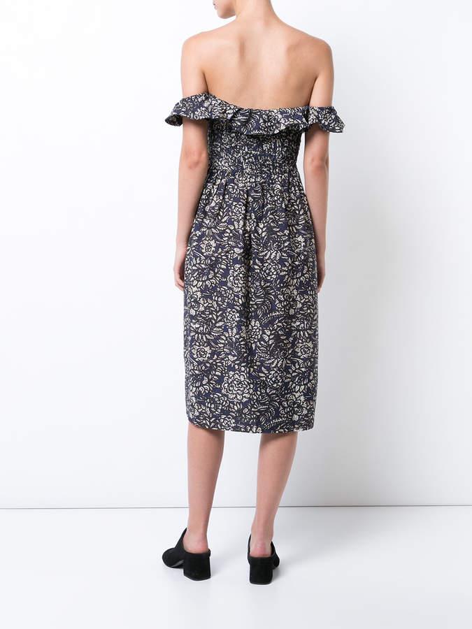 Apiece Apart floral print bardot dress