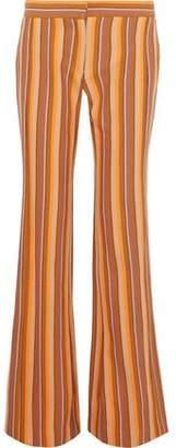Derek Lam Striped Cotton-Twill Flared Pants