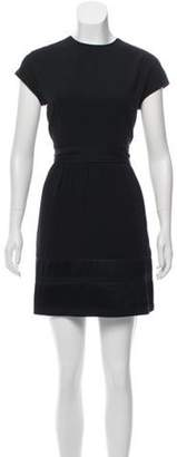 Burberry Cap Sleeve Mini Dress Black Cap Sleeve Mini Dress