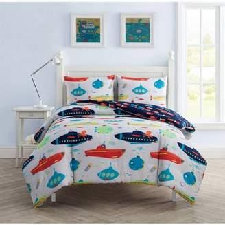 VCNY Home Submarine Sea Kids Reversible Bedding Comforter Set, Shams Included
