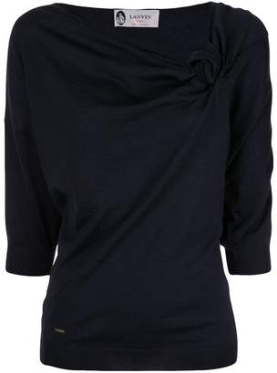 Lanvin knot detail knitted top
