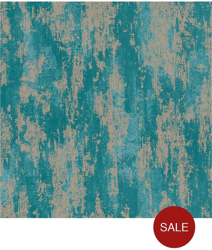 Industrial Texture Turquoise Wallpaper
