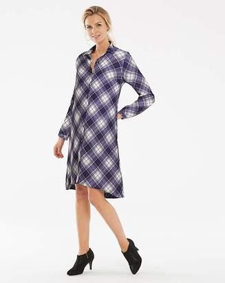 804cb035f6f Long Check Shirt Dress For Women - ShopStyle UK