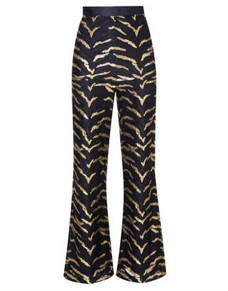 Agent Provocateur Genevieve Tux Trouser In Black And Gold Tiger Stripe
