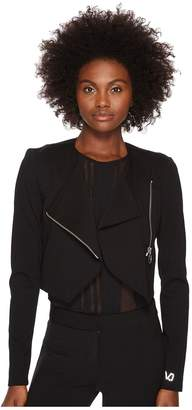 Versace Asymmetrical Zip Long Sleeve Jacket