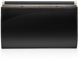 REISS Christo Frame Patent Leather Clutch $180 thestylecure.com