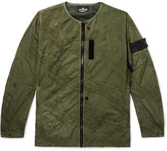 Stone Island Shadow Project Logo-Appliquéd Garment-Dyed Water-Repellent Nylon Jacket