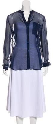 Diane von Furstenberg Sheer Button-Up Top