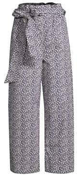 Rebecca Taylor Lauren Poplin Floral Pants