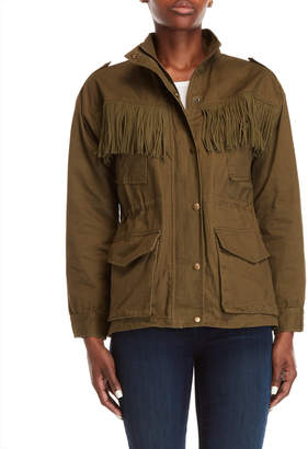 J.o.a. Army Green Fringe Jacket