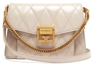 Givenchy Gv3 Small Quilted Leather Cross Body Bag - Womens - Cream