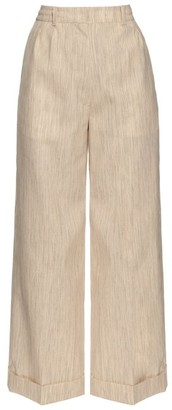 Hillier Bartley - Wide Leg Camel Canvas Trousers - Womens - Beige