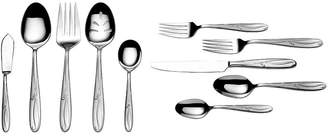 Mikasa Cocoa Blossom 65-pc. 18/10 Stainless Steel Flatware Set