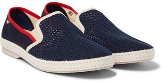 Rivieras Cotton Mesh Slip-On Shoes - Men - Blue