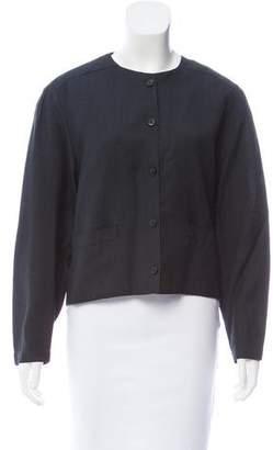 Christian Dior Collarless Button-Up Jacket