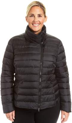 Champion Plus Size Asymmetrical Quilted Puffer Coat