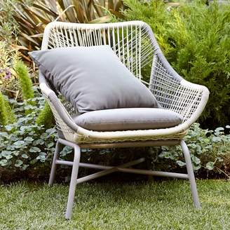west elm Huron Outdoor Small Lounge Chair + Cushion – Gray