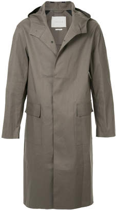 MACKINTOSH hooded three buttoned coat