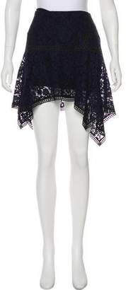 Veronica Beard Lace-Accented Knee-Length Skirt