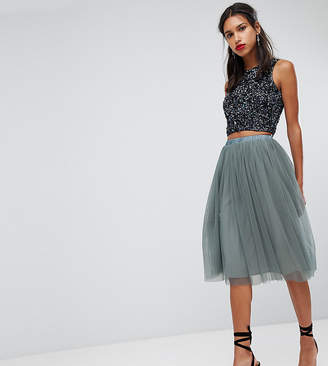Lace And Beads Lace & Beads Tulle Midi Skirt