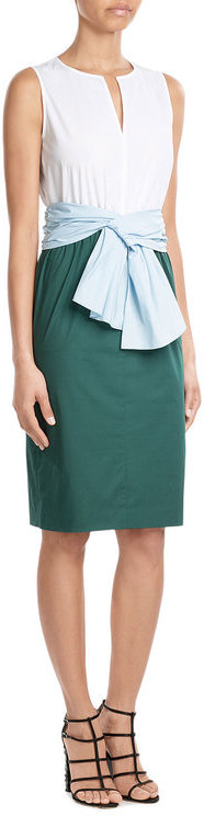 Paule KaPaule Ka Belted Cotton Dress