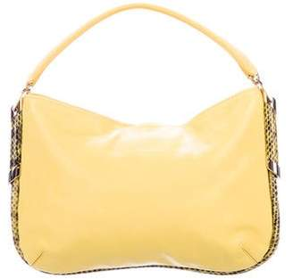 Jimmy Choo Elaphe-Trimmed Zoe Hobo