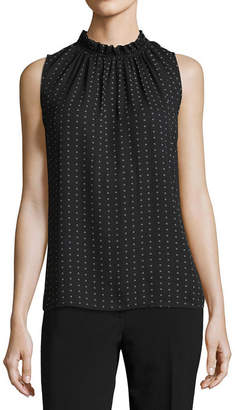 WORTHINGTON Worthington Sleeveless High Neck Georgette Blouse