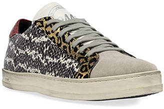 P448 John Snake-Print Low-Top Sneakers