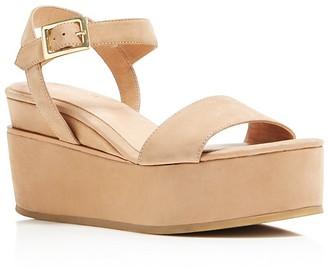 Delman Angie Platform Wedge Ankle Strap Sandals $248 thestylecure.com