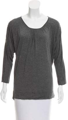 Gerard Darel Lace-Accented Scoop Neck Top