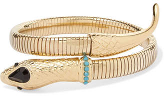 Etro Gold-tone, Crystal And Stone Cuff