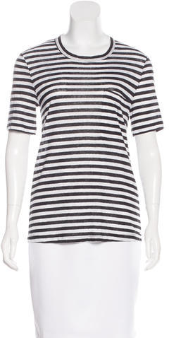 A.L.C. A.L.C. Striped Linen Top