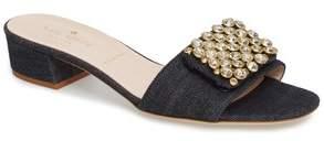 KATE SPADE NEW YORK mazie crystal embellished slide sandal