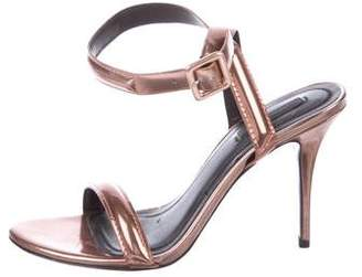 Alexander Wang Metallic Ankle-Strap Sandals