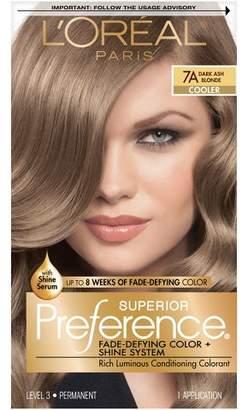 L'Oreal® Paris Superior Preference Fade-Defying Color + Shine System - 7A Dark Ash Blonde - 1 kit