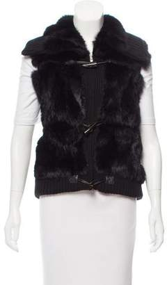 Yves Salomon Fur-Paneled Toggle Vest