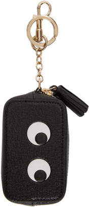 Anya Hindmarch Black Eyes Coin Purse Keychain