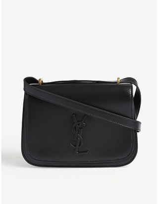 Saint Laurent Ladies Black Spontini Leather Satchel Bag