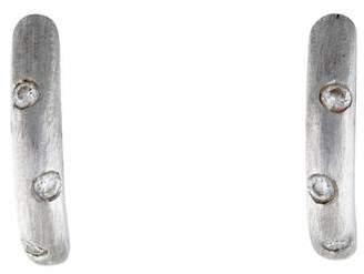 Bony Levy 18K Diamond Huggie Earrings