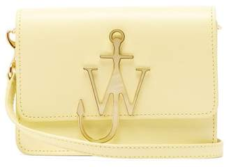 J.W.Anderson Anchor Logo Plaque Leather Cross Body Bag - Womens - Light Yellow