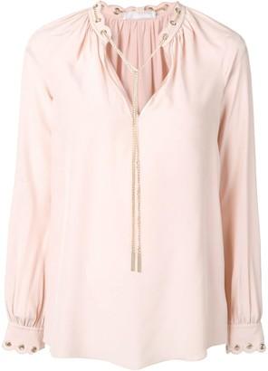 MICHAEL Michael Kors chain link blouse