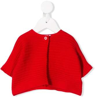 Il Gufo short-sleeve knitted cardigan