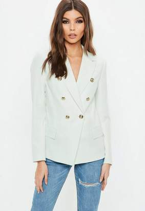 Missguided Green Military Blazer